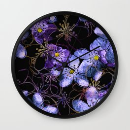 Delicate spring blossom of liverleaf Wall Clock