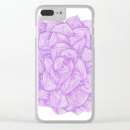 Purple flower, bohemian,elegant style. Clear iPhone Case