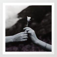 Love in Hands Art Print