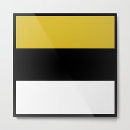 Team Colors 8...Gold ,black and white Metal Print