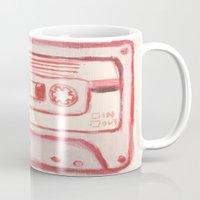 tape Mugs featuring tape by muskawo