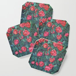 Camellias, lips and berries. Coaster