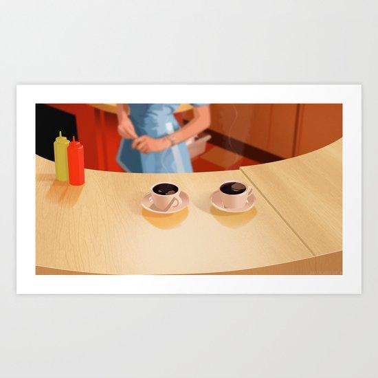 Coffee in Double R Dinner Art Print