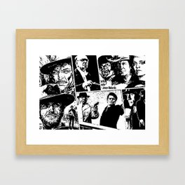 When Morricone Meets Leone Framed Art Print