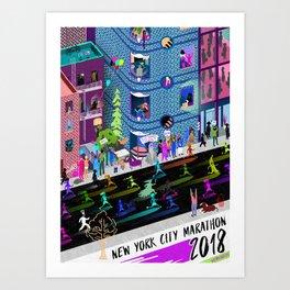 New York City Marathon 2018 Art Print