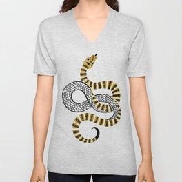 Gold Snake Unisex V-Neck