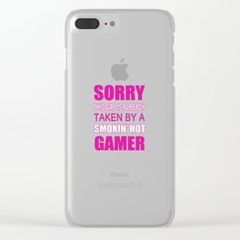 Taken By Gamer Clear iPhone Case