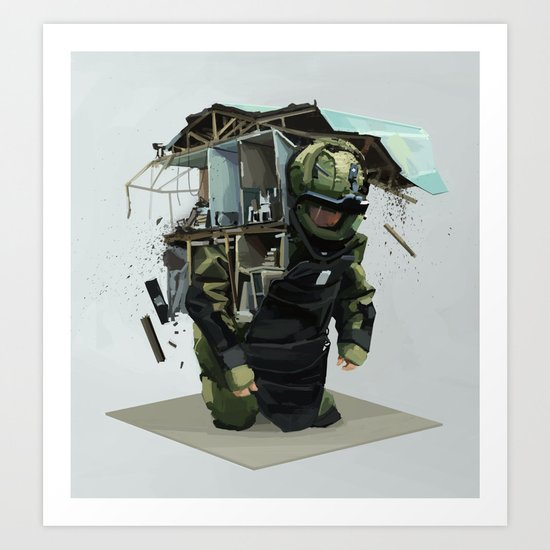 Heavy weight Art Print