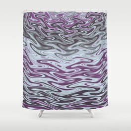 Ripples Fractal in Muted Plums Shower Curtain