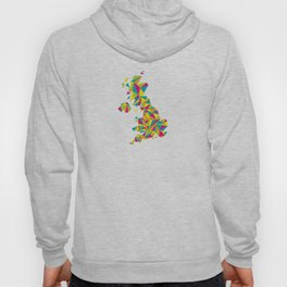 Abstract United Kingdom Bright Earth Hoody