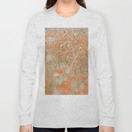 Field of orange flowers Long Sleeve T-shirt