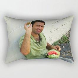 Vladimir Karabegov Will Throw Watermelon Rind At You Rectangular Pillow