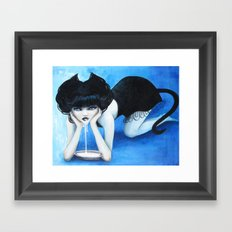 Selina the Cat Girl Framed Art Print