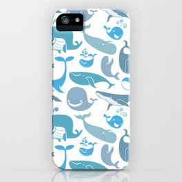 Whales Pattern iPhone Case