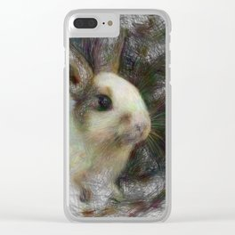 Artistic Animal Bunny 2 Clear iPhone Case