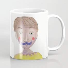Cartoon Style Man - Mr blue moustasche Coffee Mug