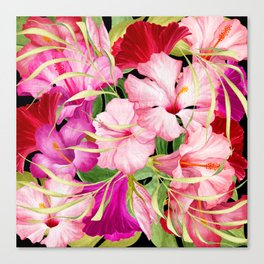 Tropical Power Flowers Canvas Print