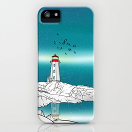 Peggy's Point Lighthouse iPhone Case