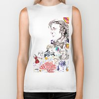 willy wonka Biker Tanks featuring Willy Wonka & The Chocolate Factory by Arielle Trenk