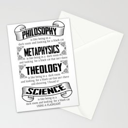 science religion sarcasm funny gift Stationery Cards