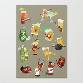 beer and music Canvas Print