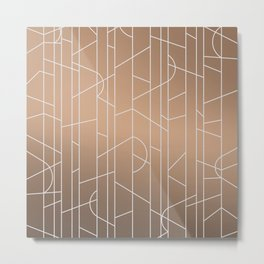 Patternbronze #3 Metal Print