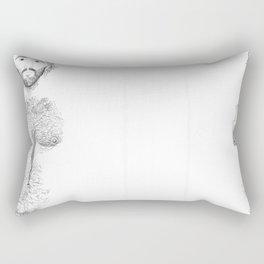 Study of hair Rectangular Pillow