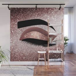 Rose gold Lashes Eye Wall Mural