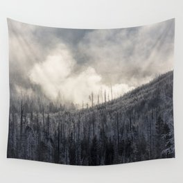 Steamy Forest -  Yellowstone National Park Wall Tapestry