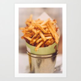 Fries in French Quarter, New Orleans Art Print