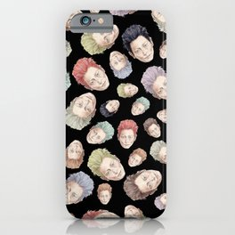 Heads on Black | Hair Pattern iPhone Case
