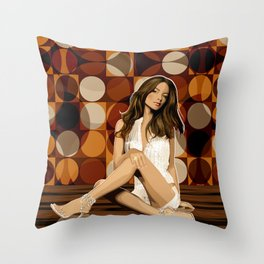 Bargrooves Throw Pillow