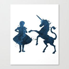 Child and unicorn Canvas Print