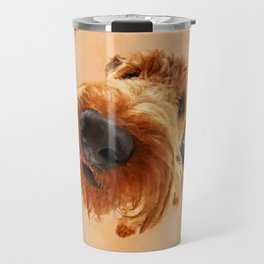 Funny  Airedale Terrier Travel Mug