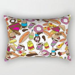 Cartoon Junk food pattern. Rectangular Pillow