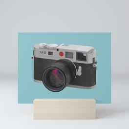 Leica M9 Camera polygon art Mini Art Print