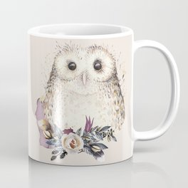 Boho Illustration- Be Wise Little Owl Coffee Mug