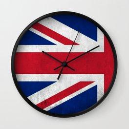 HALF BRIT FLAG Wall Clock