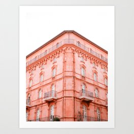 Shades of Coral | Perugia Italy fine art print | Pastel colored Art Print