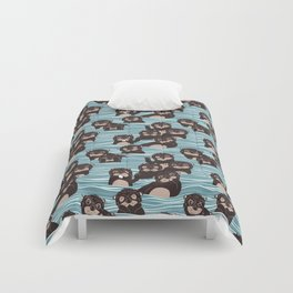 Otters dazzling the audience Comforters