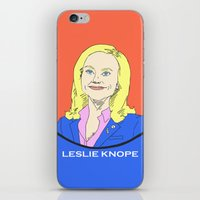 parks and recreation iPhone & iPod Skins featuring Leslie Knope (Parks & Recreation) by Guiltycubicle