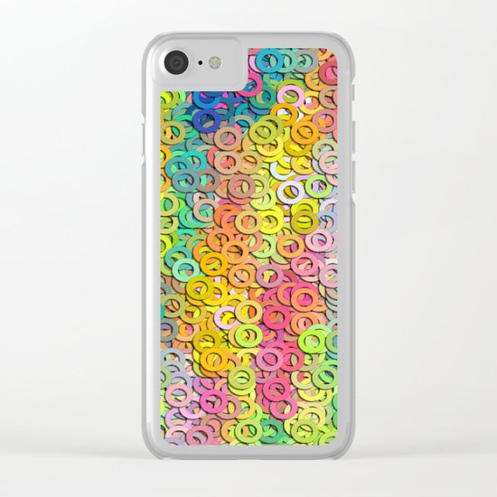 Little colorful rings Clear iPhone Case