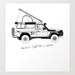 Limted Edition 4xOverland Troopy Art Print