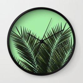 Green on green Wall Clock