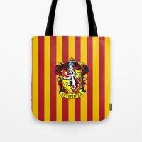 gryffindor Tote Bags featuring Gryffindor - Hogwarts  by Kesen