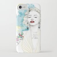 marylin monroe iPhone & iPod Cases featuring Marylin Monroe  by sarah rie