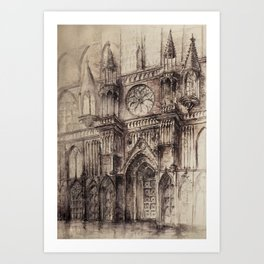 Gothic Cathedral 2 Art Print