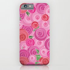 Pink Floral Slim Case iPhone 6s