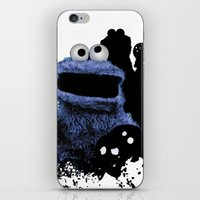 cookie monster iPhone & iPod Skins featuring Monster Madness: Cookie Monster by SB Art Productions