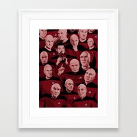picard Framed Art Prints featuring Picard Day by Brian J. Smith
